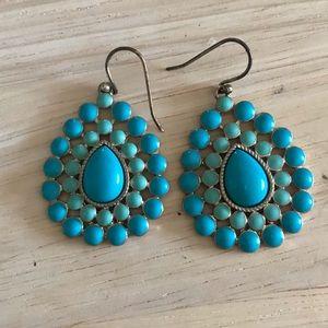 Stella & Dot Charlize Turquoise earrings